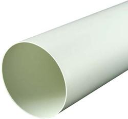 Ronde kunststof ventilatiebuis Ø125mm L=1 meter A125-1
