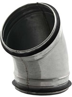 Ronde spiro bocht 45° Ø 125mm tbv gegalvaniseerde buis-1