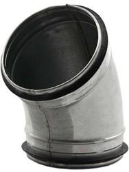 Ronde spiro bocht 45° Ø 125mm tbv gegalvaniseerde buis