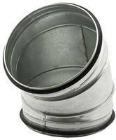 Ronde spiro bocht 45° Ø 150mm tbv gegalvaniseerde buis-1