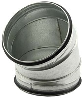 Ronde spiro bocht 45° Ø 160mm tbv gegalvaniseerde buis-1
