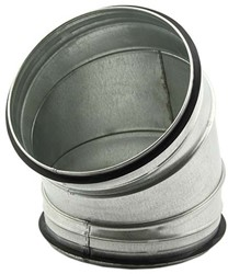 Ronde spiro bocht 45° Ø 200mm tbv gegalvaniseerde buis
