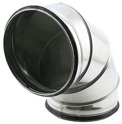 Ronde spiro bocht 90° Ø 1250mm tbv gegalvaniseerde buis