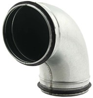 Ronde spiro bocht 90° Ø 125mm voor spirobuis