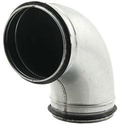 Ronde spiro bocht 90° Ø 125mm tbv gegalvaniseerde buis