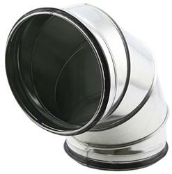 Ronde spiro bocht 90° Ø 160mm tbv gegalvaniseerde buis