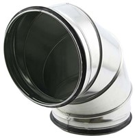 Ronde spiro bocht 90° Ø 710mm tbv gegalvaniseerde buis-1