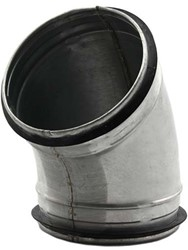 Ronde spiro-SAFE bocht 45° Ø 80mm tbv gegalvaniseerde buis