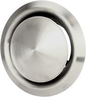 RVS ventilatie toevoer en afvoer ventiel Ø 160 mm met montagebus - DVI160