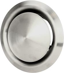 RVS ventilatie toevoer en afvoer ventiel Ø 150 mm met montagebus - DVI150