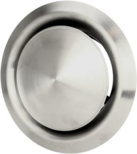 RVS ventilatie toevoer en afvoer ventiel Ø 125 mm met montagebus - DVI125 (DVI125)