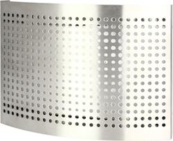 RVS ventielen toevoer met geperforeerde kap (mat)