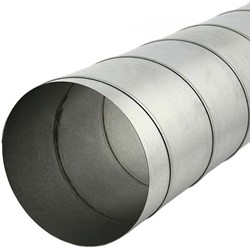 Spirobuis 125 mm L=3000 mm - rond gegalvaniseerd (extra verzendkosten)
