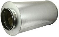 Ronde geluiddemper diameter  400 mm - L=600 mm (sendz. verz.) (100 mm iso)-1