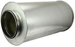 Ronde geluiddemper Ø 400 mm - L=600 mm (sendz. verz.) (50 mm iso)