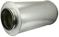 Ronde geluiddemper diameter  500 mm - L=900 mm (sendz. verz.) (50 mm iso)-1