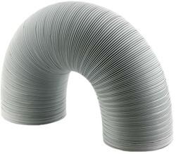 Starre witte aluminium ventilatieslang Ø 125 mm en L=3000 mm - wit
