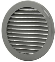 Schoepenrooster diameter: 100mm grijs - VR100P