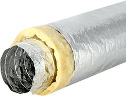 Sonodec akoestisch 127 mm geisoleerde ventilatieslang (1 meter)