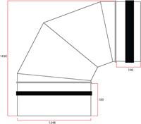 Ronde spiro bocht 90° Ø 1250mm tbv gegalvaniseerde buis-2