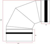Ronde spiro bocht 90° Ø 125mm tbv gegalvaniseerde buis-2