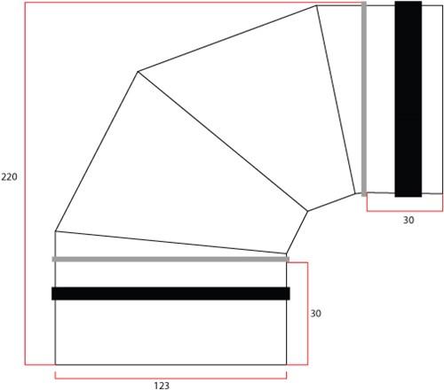 Ronde spiro bocht 90° Ø 125mm voor spirobuis-2