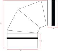 Ronde spiro bocht 90° Ø 80mm tbv gegalvaniseerde buis-2