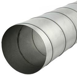 Spirobuis diameter 100 mm lengte 1.5 meter - rond gegalvaniseerd