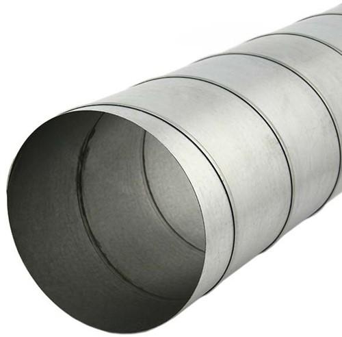 Spirobuis diameter 125 mm lengte 1.5 meter - rond gegalvaniseerd