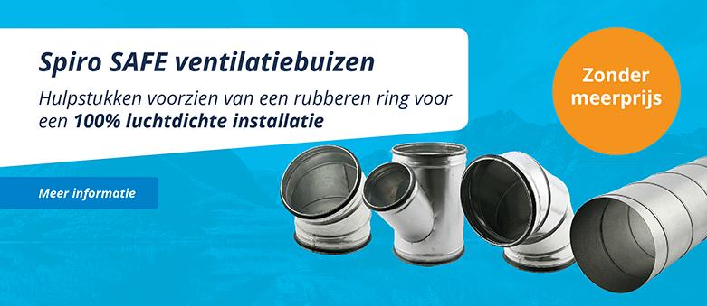 Spiro safe ventilatiebuizen en hulpstukken met rubberen ring voor luchtdichte installatie