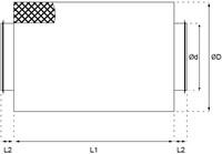 starre ronde geluiddemper diameter: 160 mm lengte 900 mm voor spirobuis-2