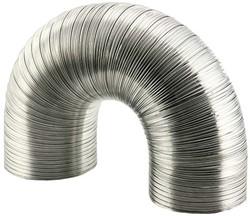 Starre aluminium ventilatieslang diameter 125 mm lengte 1.5 meter