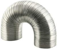 Starre aluminium ventilatieslang rond Ø 125mm lengte 3 meter