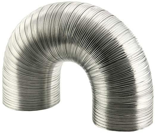Uitzonderlijk Starre aluminium ventilatieslang rond Ø 150 mm lengte 3 meter bij YB74