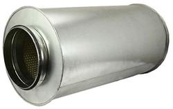 starre ronde geluiddemper diameter: 200 mm lengte 600 mm voor spirobuis