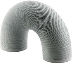 Starre witte aluminium ventilatieslang diameter 100 mm lengte 1.5 meter