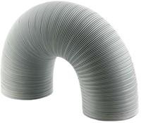 Starre witte aluminium ventilatieslang diameter 120 mm lengte 1.5 meter-1