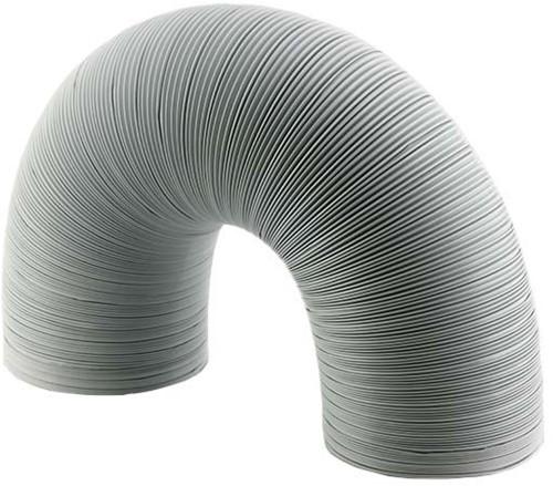Starre witte aluminium ventilatieslang diameter 125 mm lengte 1.5 meter