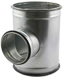 T-stuk diameter Ø 160mm met aftakking naar  Ø 125mm tbv spiro buis (90 graden)