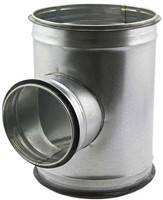 T-stuk diameter Ø 250mm met aftakking naar  Ø 200mm tbv spiro buis (90 graden)-1