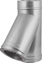 DW Ø 100 mm (100/150) T-stuk T135 I316L/I304 (D0,5/0,6)