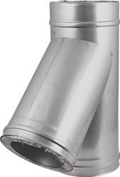 DW Ø 150 mm (150/250) T-stuk T135 I316L/I304 (D0,5/0,6)