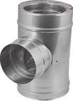 DW diameter  200 mm (200/250) T-stuk T90 EW I316L/I304 (D0,5/0,6)