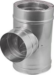 DW diameter  250 mm (250/300) T-stuk T90 EW I316L/I304 (D0,5/0,6)