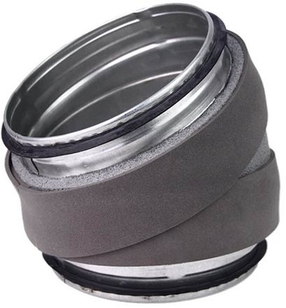 Thermoduct bocht 30 graden diameter 355 mm