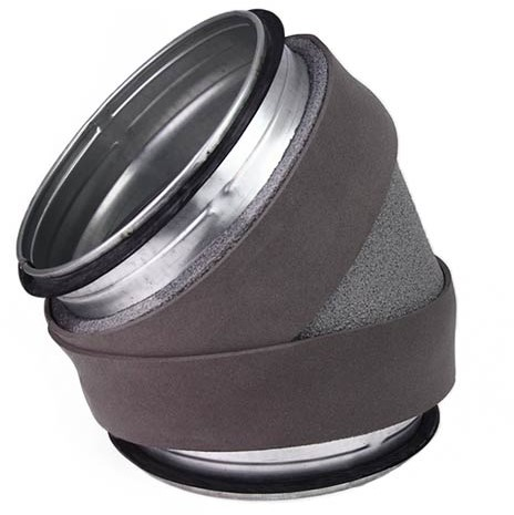 Thermoduct bocht 45 graden diameter 400 mm