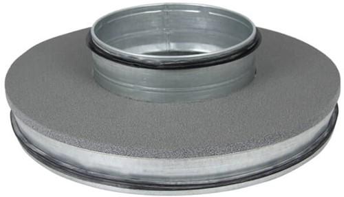 Thermoduct deksel 355mm met vlakke tuit 160mm geisoleerd