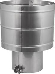 Trekkende kap Ø 130 mm I316L (D0,6)