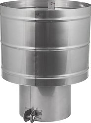 Trekkende kap Ø 150 mm I316L (D0,6)