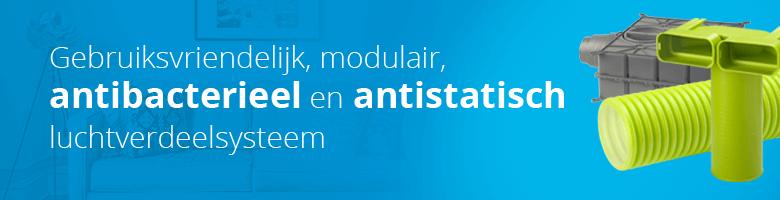 Ubbink Air Excellent luchtverdeelsysteem is antistatisch, antibacterieel en modulair